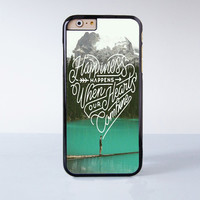 Happiness Happens When Our Hearts Combine Plastic Case Cover for Apple iPhone 6 6 Plus 4 4s 5 5s 5c