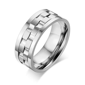 Men's Spike Ring Rotatable Wedding & Engagement Rings
