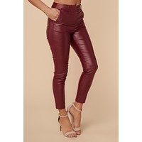Secret City Pants (Burgundy)