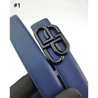 Balenciaga hot seller of casual men's and women's fashion navy blue belts #1