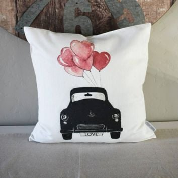 Vintage Car Heart Balloons
