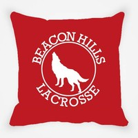 Beacon Hills Lacrosse Teen Wolf Throw Pillow Cover