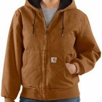Carhartt Women's Sandstone Flannel Lined Active Jac/Quilted - Irregular