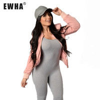 new  jumpsuits for women Sexy Tight Plus Size Cotton Free Shipping Spaghetti Strap Bodycon Tank One Peice Playsuit