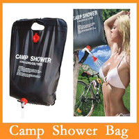 High Quality Outdoor Camping Hiking Solar Energy Heated Camp Shower Bag PVC Water Bag 20L / 5 Gallons Dropshipping