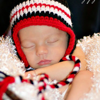 Texas Tech Hat Set Baby Photo Prop  Hat and by conniemariepfost