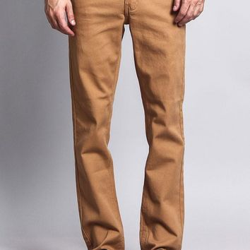 Men's Slim Fit Colored Jeans (Wheat)