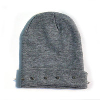Knitted Beanie with Spikes Studs from Insparel