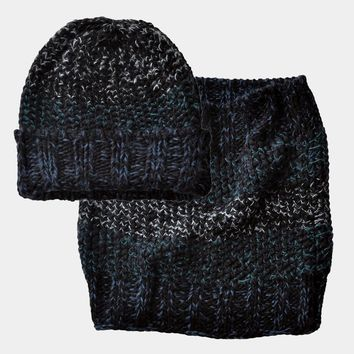 Gradient Rib Knit Black Collection