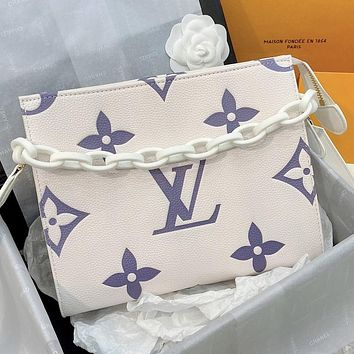 LV Louis Vuitton New Products Printed Letter Chain Cosmetic Bag Shopping Shoulder Bag Messenger Bag