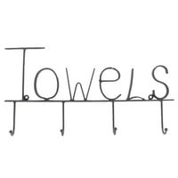 Black Metal Towel Hooks | Hobby Lobby | 615088