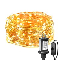 LE Fairy Lights with Switch, 66ft 200 LED, Plug in, Waterproof, Indoor Outdoor Decorative Copper String Light for Bedroom, Patio, Party, Wedding, Christmas, Holiday Décor and More 66.0 Feet