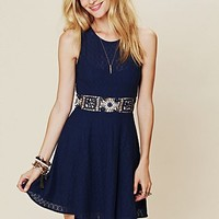 Free People Colorblock Daisy Fit-n-Flare