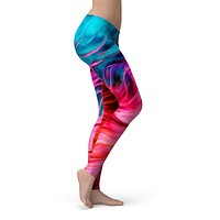 Liquid Abstract Paint V66 - All Over Print Womens Leggings / Yoga or Workout Pants
