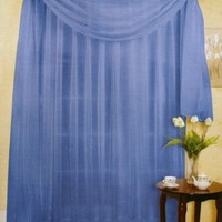 """216"""" LONG SCARF TOPPER, BLUE SHEER VOILE, 60"""" WIDE"""