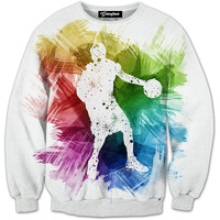 Colorful Post Up Crewneck