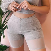 WORKOUT WITH ME MESH SHORTS (GREY)