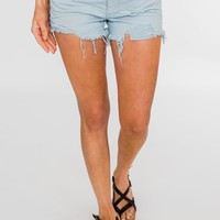 C'est Toi Distressed Shorts- Angelic Blue