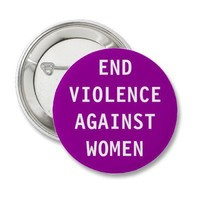 End violence against women buttons from Zazzle.com