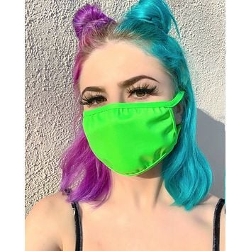 Neon Lime Vinyl Surgical Face Mask
