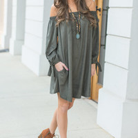 Don't Have To Per-suede Me Dress, Olive