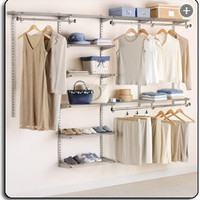 Rubbermaid Configurations Custom Closet Deluxe Kit, Titanium, 4-8 Foot, FG3H8900TITNM