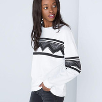 Women National Crew Neck Sweater