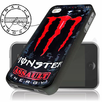 monster energy red logo iPhone 4 5 5c 6 Plus Case, Samsung Galaxy S3 S4 S5 Note 3 4 Case, iPod 4 5 Case, HtC One M7 M8 and Nexus Case