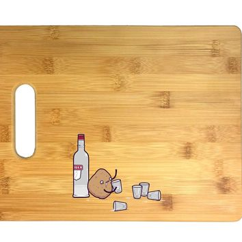 Vodka Potato Randy Otter Funny Humor 3D COLOR Printed Bamboo Cutting Board - Wedding, Housewarming, Anniversary, Birthday, Mother's Day, Gift