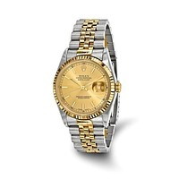 18K Gold Steel PreOwned Champagne Rolex Watch