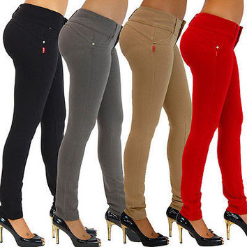 Fashion Women Sexy Candy Color Pencil Pants/Casual pants/Skinny Pants With Cotton Summer Trousers Fit Lady jeans Free Shipping