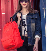 """VANS"" Shoulder bag female classic solid color casual candy simple backpack man"