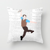 NEWSIES – LOGO Throw Pillow by K. Frank