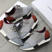 Balenciaga runner grey/burgundy