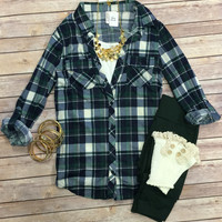 Penny Plaid Top: Green