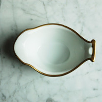 Vintage Porcelain Dish AS IS / White & Gold / RS Germany 1920s