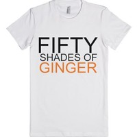 Fifty Shades Of Ginger-Female White T-Shirt