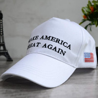 American Flag Make America Great Again Embroidered Baseball Cap Hat + Nice Gift
