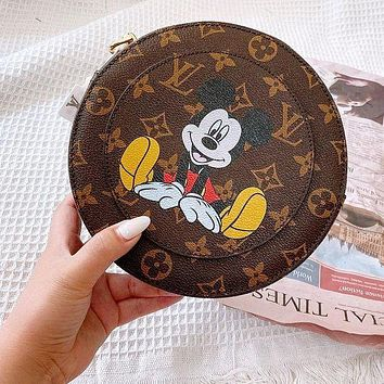 LV bag mickey mouse bear round cake bag cute small round apple bag coffee
