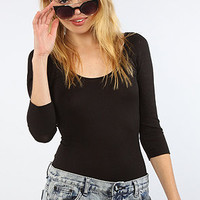 Free People The Seamless Pointelle Top in Black : Karmaloop.com - Global Concrete Culture