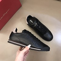 Ferragamo men's Casual Running Sport Shoes Sneakers Leather Shoes 070752