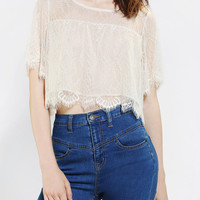 Urban Outfitters - Pins And Needles Femme Lace Cropped Top