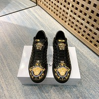 VERSACE Men Fashion Boots fashionable Casual leather Breathable Sneakers Running Shoes 01