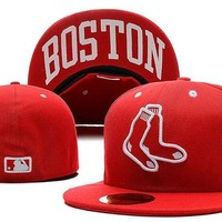 DCCKBE6 Boston Red Sox New Era MLB Authentic Collection 59FIFTY Cap Red-White