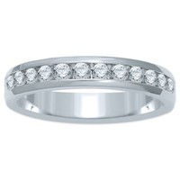 14K White Gold .50 cttw Channel-Set Diamond Ladies' Wedding Band
