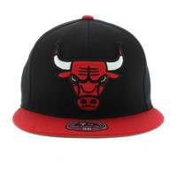 Chicago Bulls The 2 Tone XL Fitted - Team Colors By Mitchell And Ness New Era Caps, Snapbacks, Bucket Hats, T-Shirts, Streetwear USA Cranium Fitteds