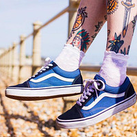 VANS classic fashion men's and women's low-top lace-up sneakers casual sports shoes