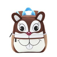 Boys Backpack Bag Children 3D Cute Animal Giraffe Monkey Owl Design s Toddler Kids Neoprene School Bags Kindergarten Cartoon  Bag AT_61_4