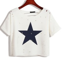 Shooting Star Cropped Tee - OASAP.com