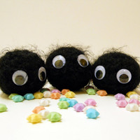 Soot Sprite, Susuwatari - Made to Order - Crocheted Fan Plushie